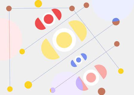Geometric abstract background. Vector editable illustration 矢量图像