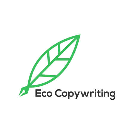 Eco Copywriting consisting of letters in the form of a leaflet on the end of the pen