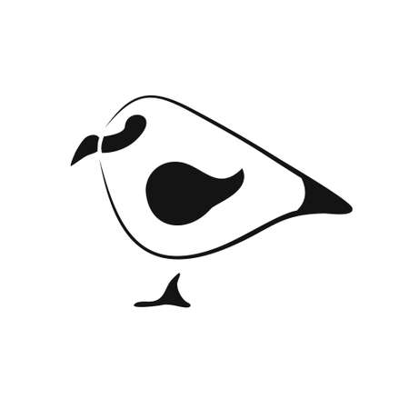 Minimalistic Sparrow icon in black smooth curved lines Banque d'images - 129344377