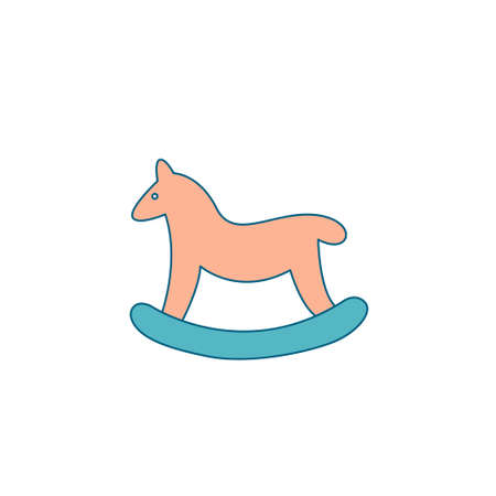 Christmas decoration for home. Christmas baby horse in the form of a swing. A gift for a child under a Christmas tree, a toy, a gift for a sock.