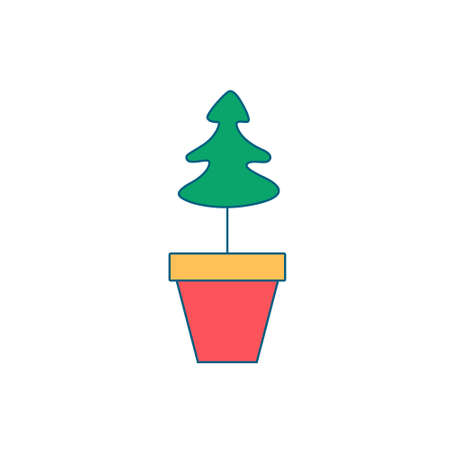 Christmas decoration for home. New Year tree planted in a pot for indoor plants. Toy, gift for sock.