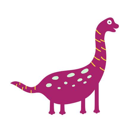 Cute dinosaur brachiosaurus. Dinosaur vector character