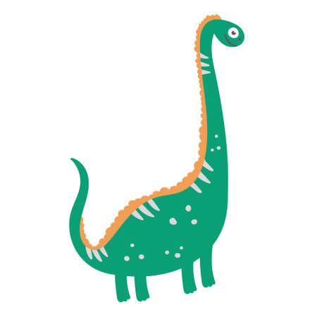 Cute dinosaur diplodocus. Dinosaur vector character