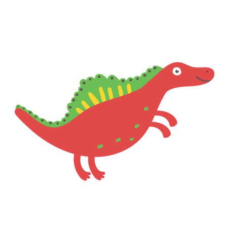 Cute Dinosaur Spinosaurus. Dinosaur vector character