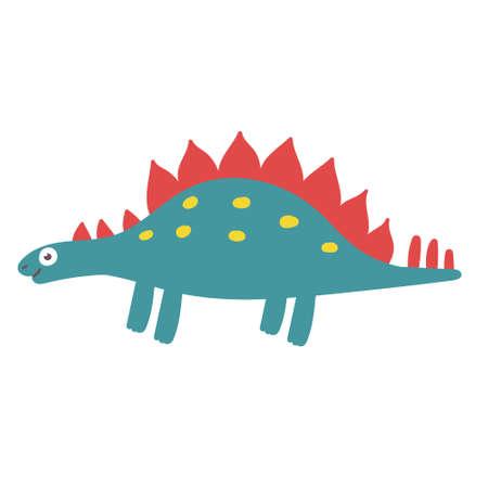 Cute Stegosaurus Dinosaur. Dinosaur vector character