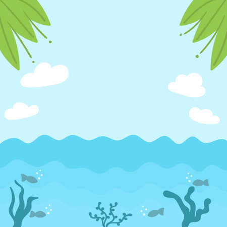Summer tropical sea background.