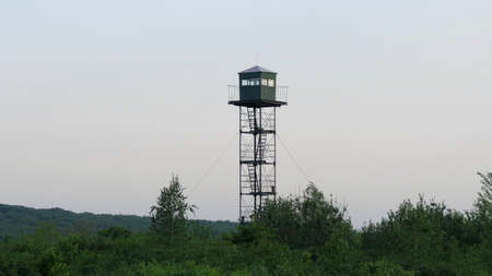lookout: Lookout military tower on the border Stock Photo