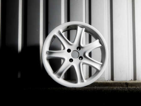 custom car: Disassembled custom car wheel