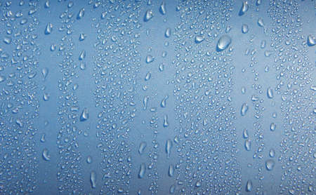 water repellent: Drops on metal background after water protection coatong