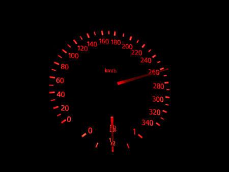detailed: Car interior detailed. Car speedometer closeup