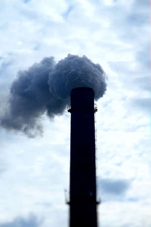 poisoned: Poisoned smoke from power plant smokestack pollutes the air