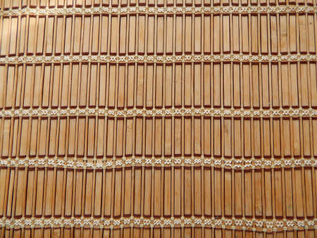 cor: Straw jalousie blinds texture background Stock Photo