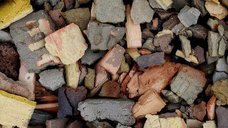 debris: Debris of broken stones texture background