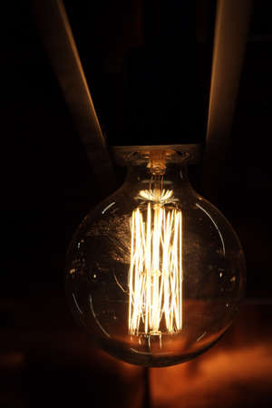 electric bulb: Hot glass of switched on electric bulb