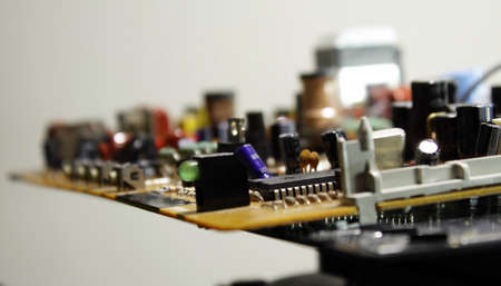 electronic board: Electronic board with radio components closeup