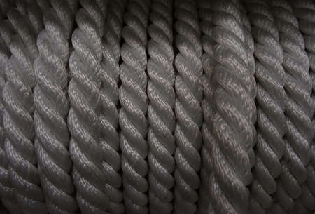 bobbin: Nylon rough cord in bobbin at the hardware shop stock photo Stock Photo
