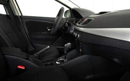 side view: Car interior with automatic gearbox side view