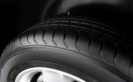 sidewall: Dimples and sipes on the sidewall of summer tire detailed