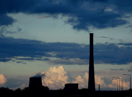 Steam from the cooling tower Stockfoto