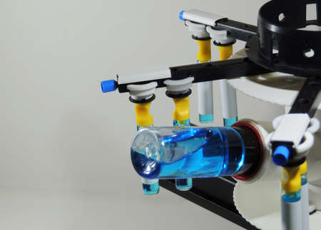 Laboratory device with spinning Stockfoto
