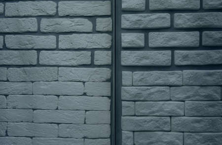 Variety Artificial Stones On The Wall Stockfoto