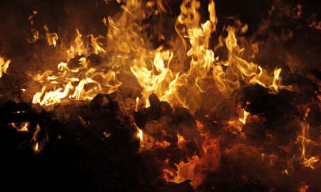 Cardboard debris utilization in fire