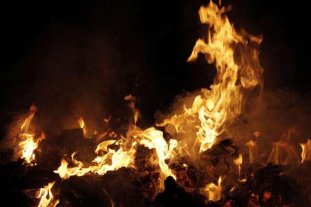 Industrial garbage burning