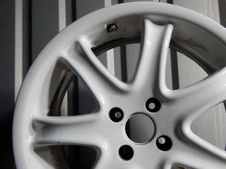 Rusty Damaged Wheel Rim Close Up