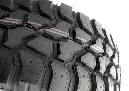 Tire treads on white background