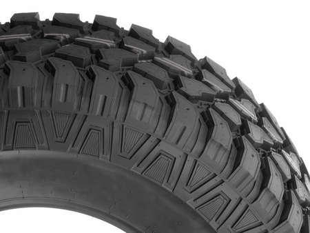 Car tire tread design and deep sipes close up