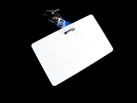 timecard: Badge on a black background. Isolated image Stock Photo