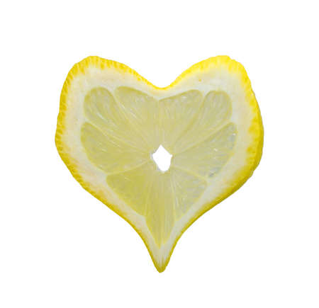 Heart from a share of a lemon photo