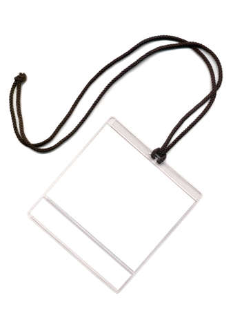 Badge with a white place of a copy. Isolated on a white background Stockfoto