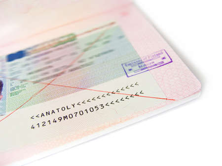 spoilage: Not correctly made out visa in the passport