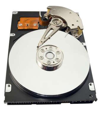 Disco duro para una computadora en un fondo blanco Foto de archivo - 739443
