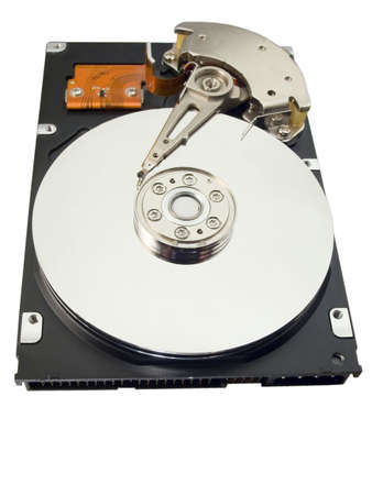 Hard disk for a computer on a white background photo