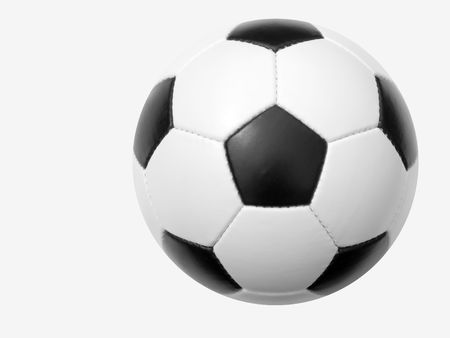 Soccer ball on a white background Stockfoto