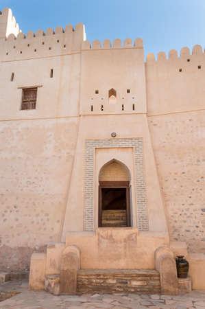 impregnable: Side entrance to desert fort Stock Photo