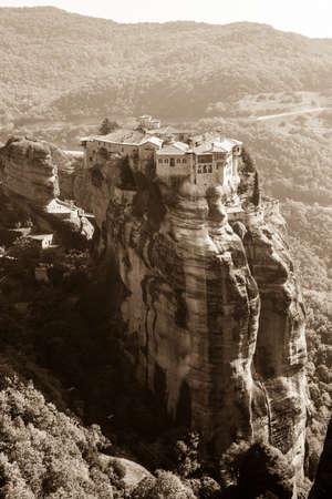 Monastery of Varlaam built on a tall rock Meteora, Greece.
