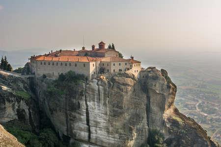 kalampaka: Monastery of Roussanou. Stock Photo