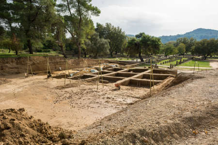 Archeological dig site.  Stock Photo