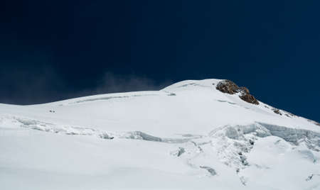 rosa: Mountain ridge covered with snow. Monte Rosa massif. Stock Photo