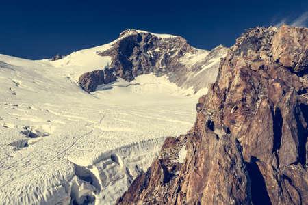 massif: Mountain panorama. Scenic view of Monte Rosa massif.