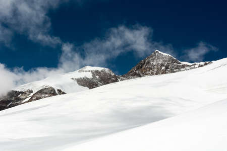 massif: Picturesque view of a mountain top. Monte Rosa massif.