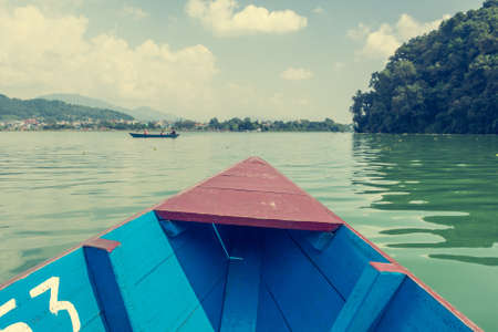 phewa: Boat ride across Lake Phewa.