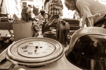Vintage clock at local flea market.