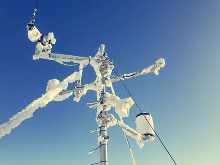 Frozen weather station. 스톡 콘텐츠
