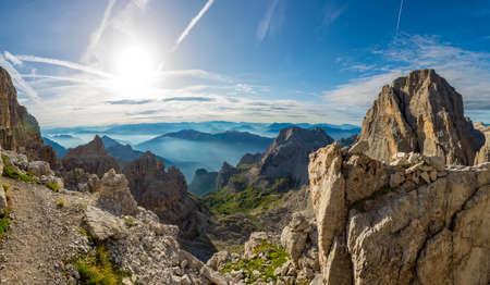 Spectacular mountain panorama.