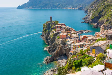 Picturesque sea town. Stock Photo