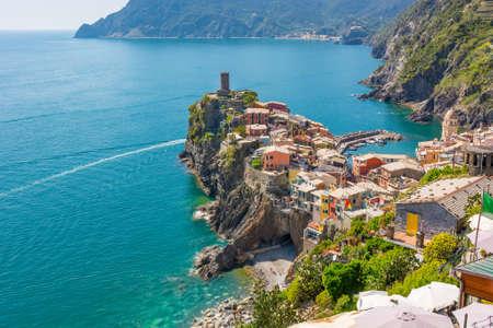 Picturesque sea town. 版權商用圖片